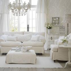 Trang trí phòng khách tuyệt đẹp với tông màu trắng